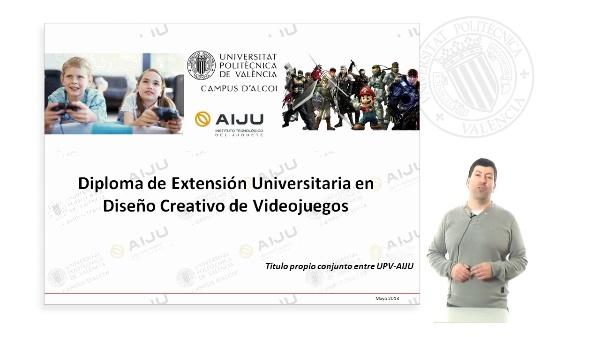 Presentación del Diploma de Extensión Universitaria en Diseño Creativo de Videojuegos