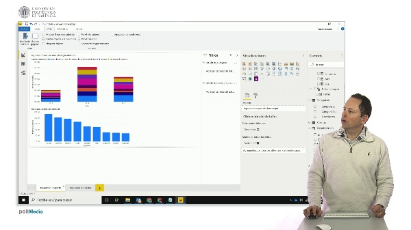MOOC Power BI. Segmentación de datos (slicers) en visualización