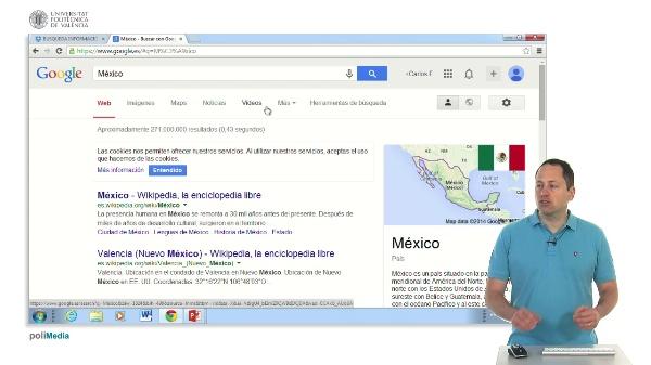 La barra superior de Google