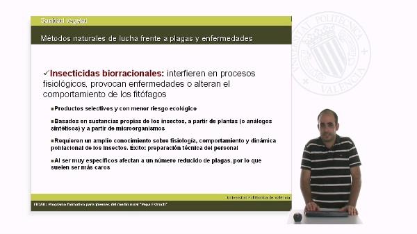 Unidad 2.5. Métodos naturales de lucha frente a plagas y enfermedades