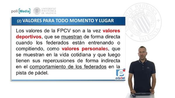 Valores de la FPCV