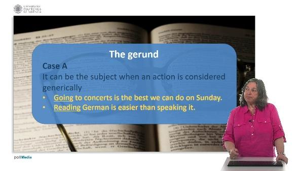 Use of English. Verb + ing form