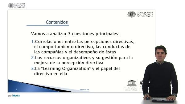 Capítulo 6: La percepción directiva y el desempeño organizativo