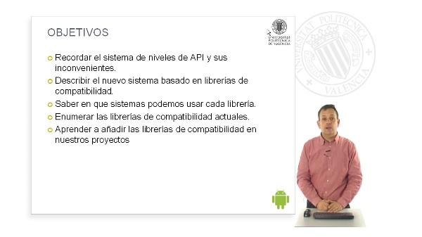 Las librerias de compatibilidad (support library) de Android