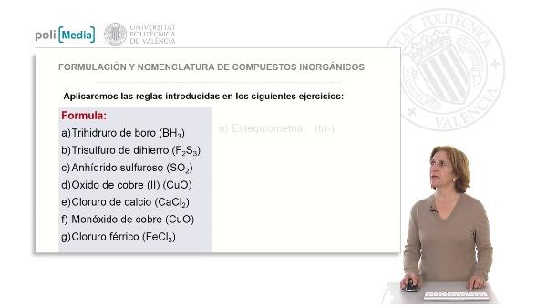 Tipos de nomenclaturas. Soluciones ejercicio práctico