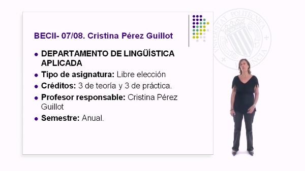 Presentación Asignatura Business English Certificate II