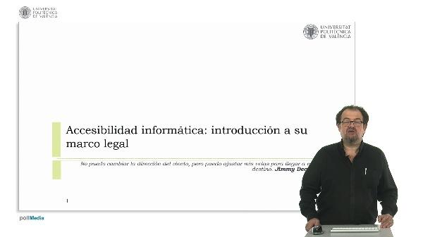 Accesibilidad informática: introducción a su marco legal