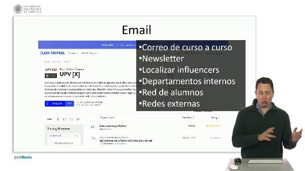 Marketing digital para cursos MOOC. Email