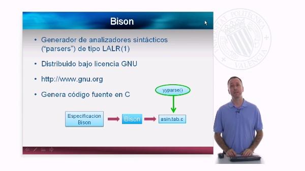 Bison. Desarrollo de un analizador sintáctico usando Bison