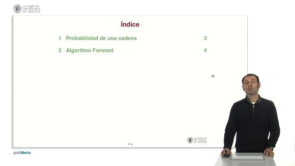Modelos de Markov ocultos: algoritmo forward