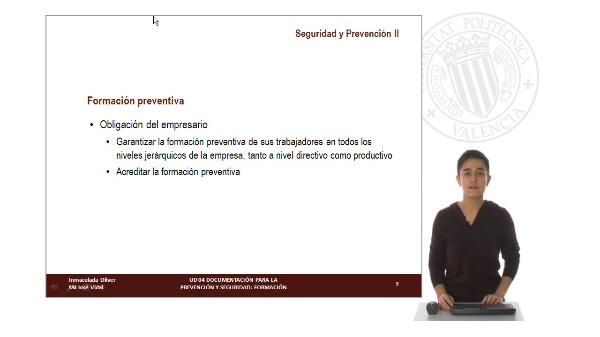 UD 04. Documentos para la Prevención y Seguridad: Formación