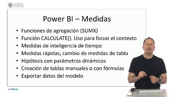 MOOC Power BI. Índice módulo medidas