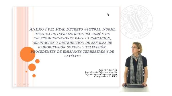 Presentación Anexo I Reglamento Infraestructuras Comunes de Telecomunicaciones ICT 2011