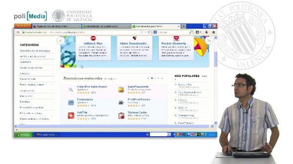 Complementos en Mozilla Firefox