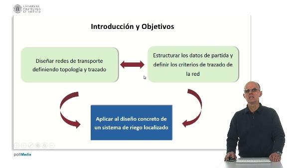 Diseño y dimensional de la red de transporte en un sistema de riego localizado. Datos de partida, topología y trazado.