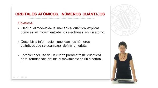 Orbitales atómicos, números cuanticos