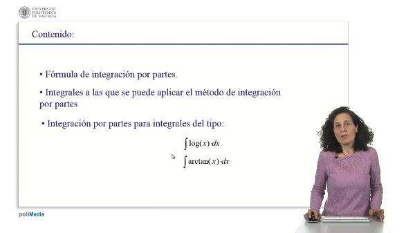 Resolución de ejercicios de integrales utilizando el método de integración por partes. Funciones elementales