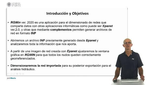 Dimensionado de la red de transporte con RGWin. Importar Datos de la red en formato INP desde Epanet.