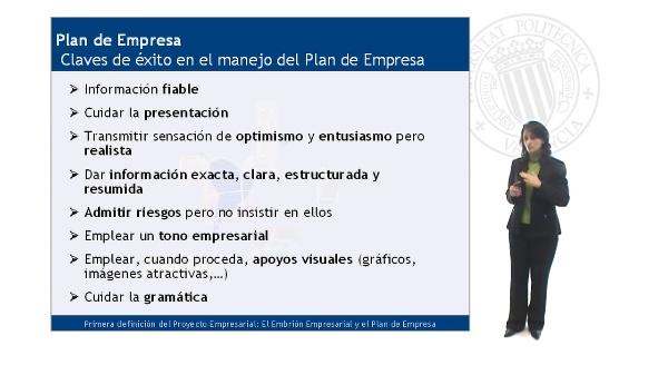 Claves de éxito en el manejo del plan de empresa