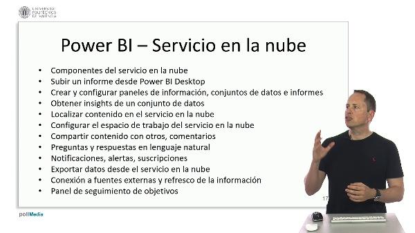 MOOC Power BI. Índice módulo servicio en la nube