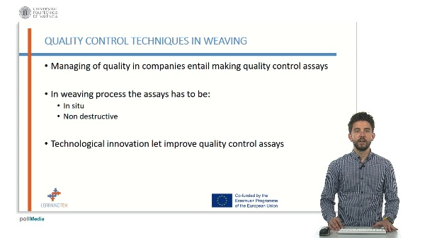 Main quality control systems: x ray, ultrasounds and artificial vision