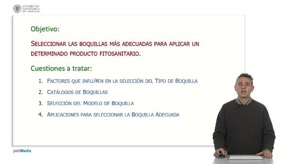 SELECCIÓN DE BOQUILLAS DE PULVERIZACIÓN