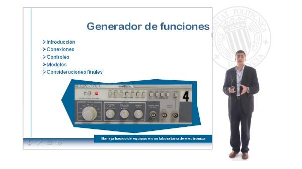 Generadores de funciones en el laboratorio electrónico