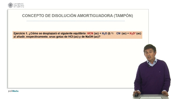 Concepto de disolución amortiguadora (tampón): Casos prácticos.