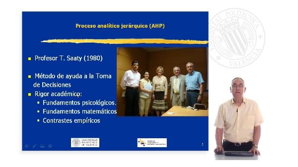 Proceso Analítico Jerárquico. AHP (Analytic Hierarchy Process)