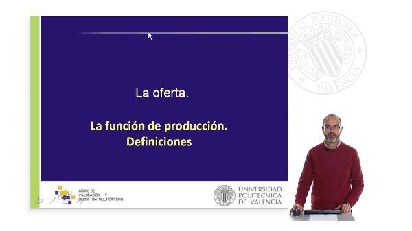 La oferta. La función de producción