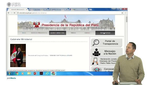 Buscar en Internet. Información administrativa Perú