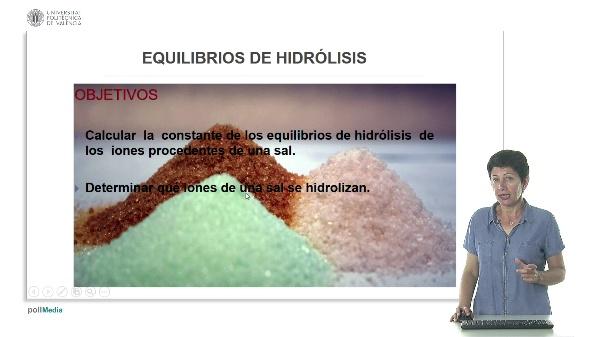 Lección 3. Equilibrio de hidrólisis.