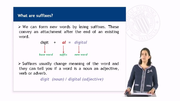 Technical suffixes
