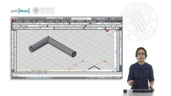 Modelado 3D mediante barrido con Autocad