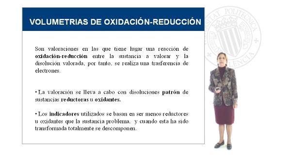 Volumetrías de Oxidación Reducción I