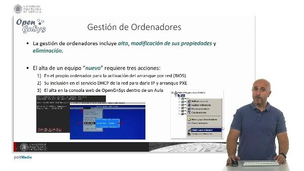 Gestión de ordenadores en la consola web.