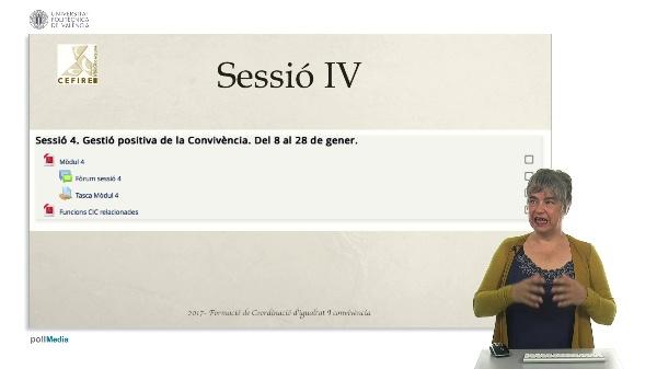 Sessió IV - Gestió de la convivència positiva.