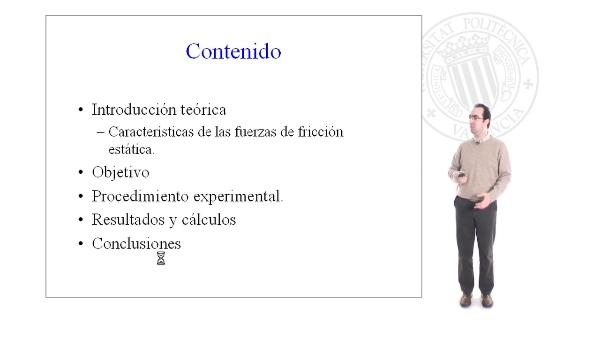 Determinación del coefieciente de rozamiento estático.Práctica