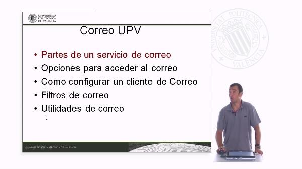 Estructura del correo UPV