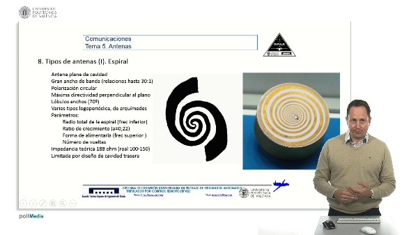 Master RPAS. Asignatura comunicaciones. Antena espiral