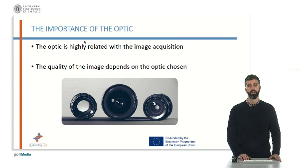 Optics and filters for artificial vision quality control
