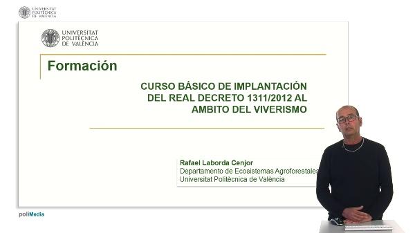 Formación (Real Decreto 1311/2012)