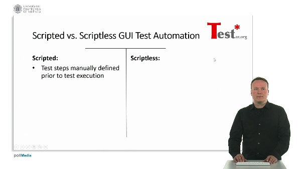 Open Source Tool for scriptless teste automation through graphical user interface