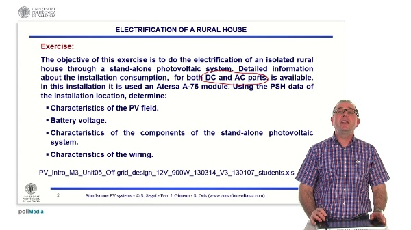 Off-grid photovoltaic installations. Rural electrification at 12V