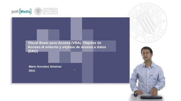 Objetos para el acceso a datos y al entorno en VBA