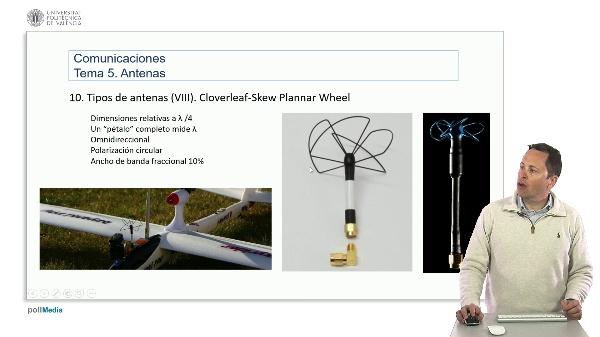 Introducción a las radiocomunicaciones. Antena clover-leaf/Skew Planar wheel