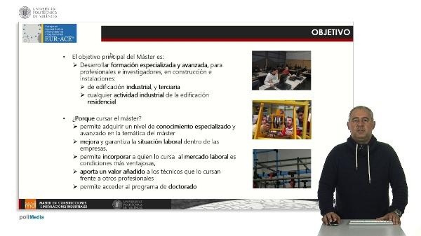 Presentación Máster construcción e instalaciones industriales.