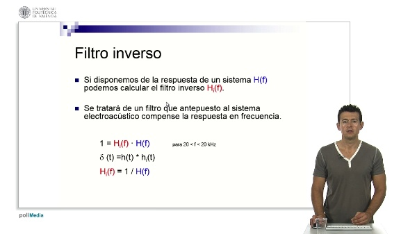 Cálculo del Filtro Inverso