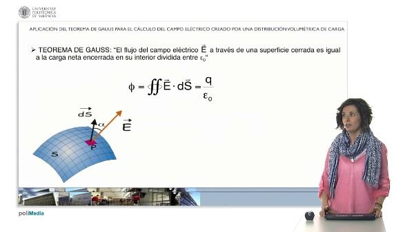 Aplicación del teorema de Gauss para el cálculo del campo eléctrico creado por una distribución volumétrica de carga