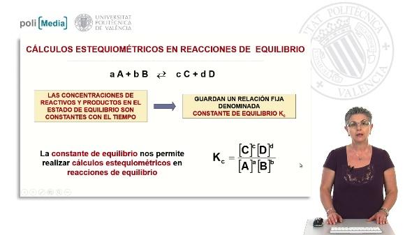 Cálculos estequimétricos en reacciones de equilibrio